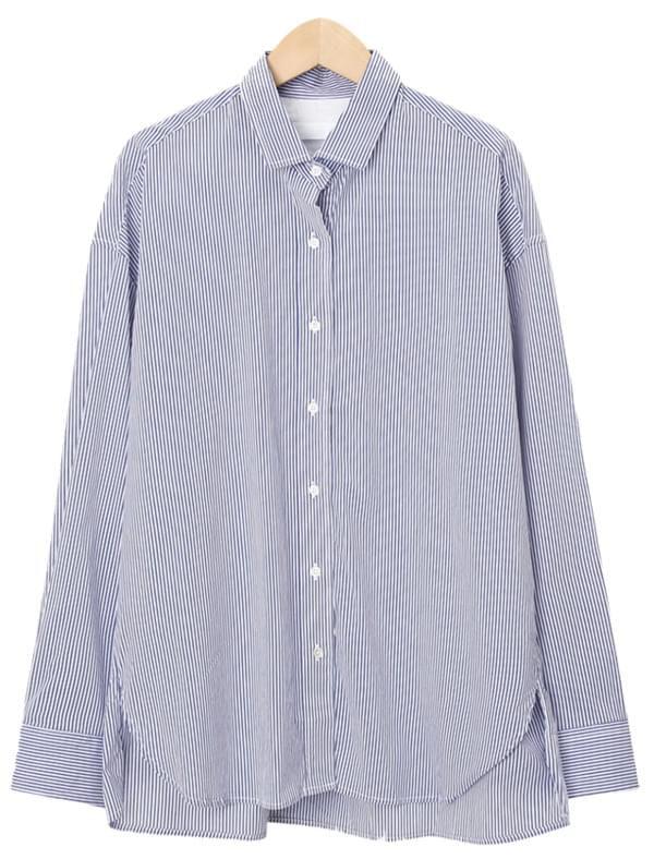 Heaven stripe collar shirts_J