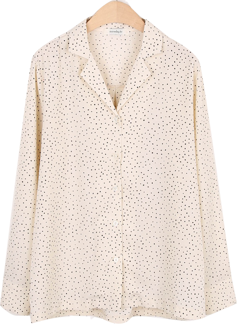 V-neck dot blouse