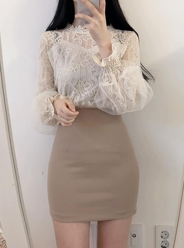 ♥ Snowflake Flower Lace Blouse