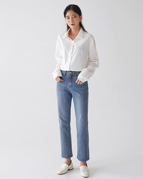 echo straight denim pants