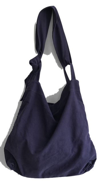 wearable cotton shoulder bag (3colors)