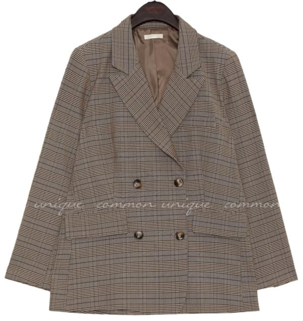 MADRE CHECK DOUBLE JACKET