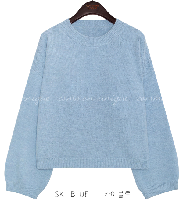 BLINKY SMOOTH ROUND NECK KNIT