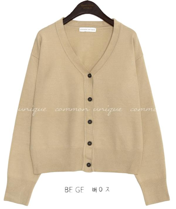 PEKIN BASIC V NECK KNIT CARDIGAN