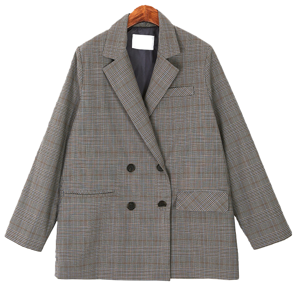 Check Pattern Double Jacket