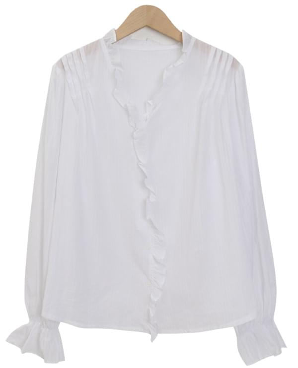 Morning lace button blouse_J (size : free)