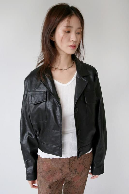 crack vintage leather jacket