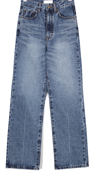 wide washing denim pants