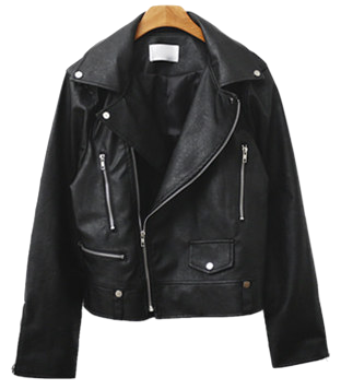 Scenic leather jacket
