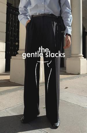 GENTLE dressy SLACKS/ver.핀턱와이드