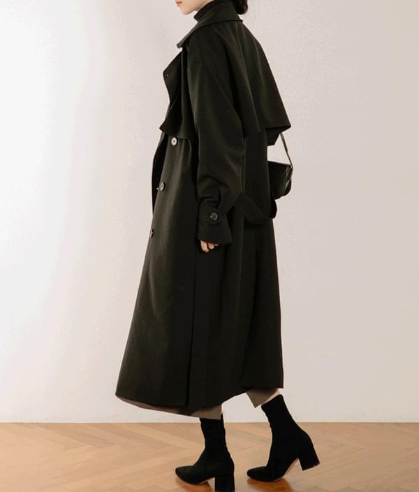 ESSAYStorm Flap Detail Double-Breasted Trench Coat 大衣外套