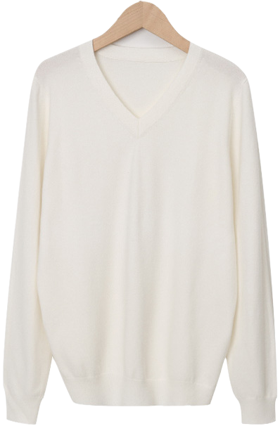 Even wool v-neck knit_Y (울 20%) (size : free)