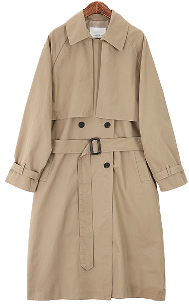 Trendy Strap Trench Coat