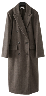 herringbone clean double coat