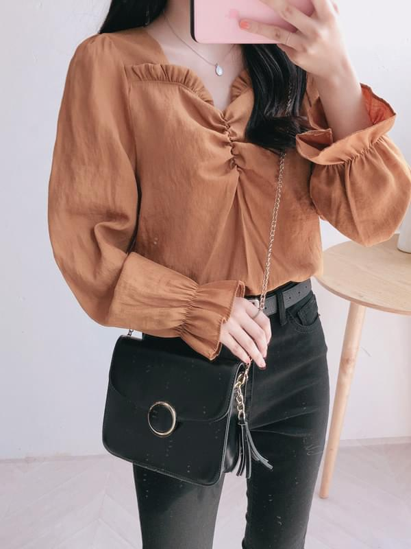 Vogue shearling blouse