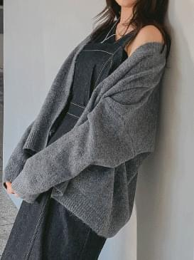 Loose-fit pubbit cardigan