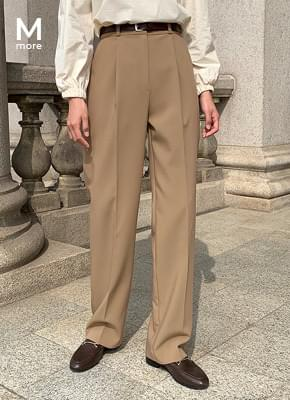 Loose-fit Pintuck Slacks