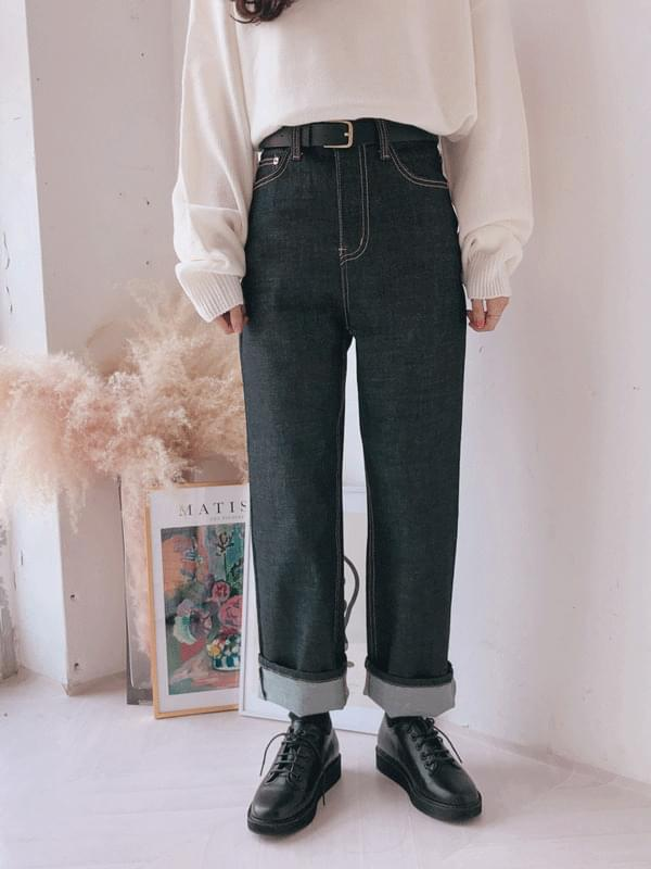 Dough Wide Straight Fit Denim Pants