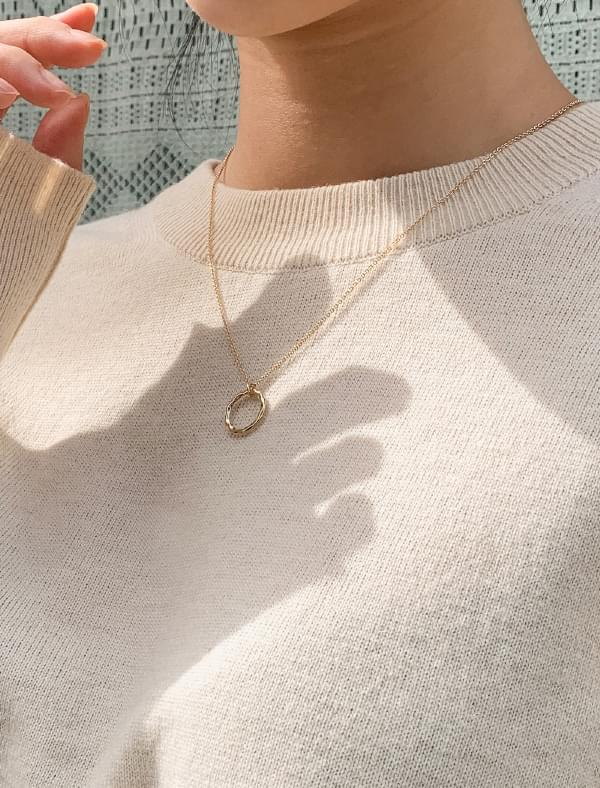 mood circle ring necklace