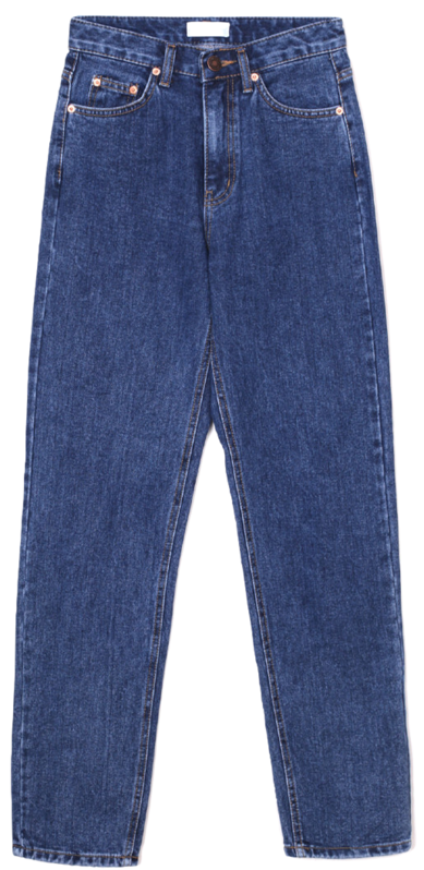 straight-fit blue jeans - woman