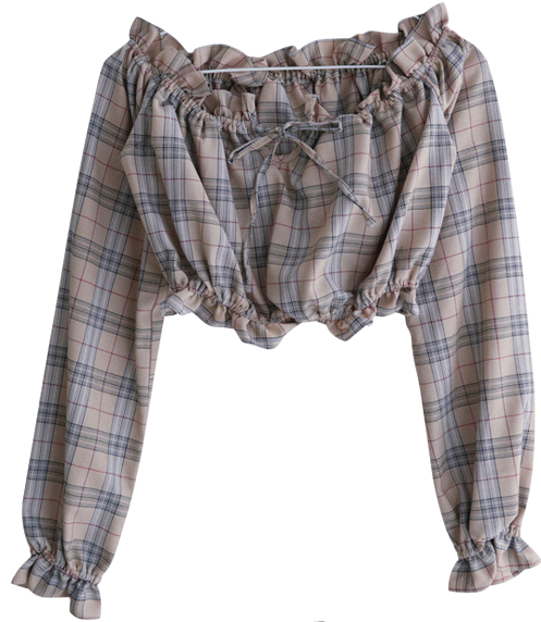Check off blouse