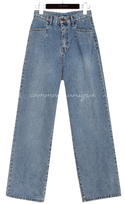 LOKI PINTUCK WIDE DENIM PANTS