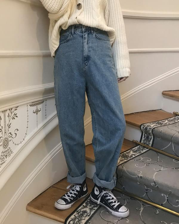 louvre simple denim pants