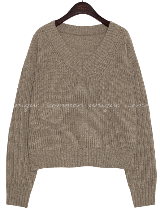 AVILA WOOL V NECK LOOSE FIT KNIT