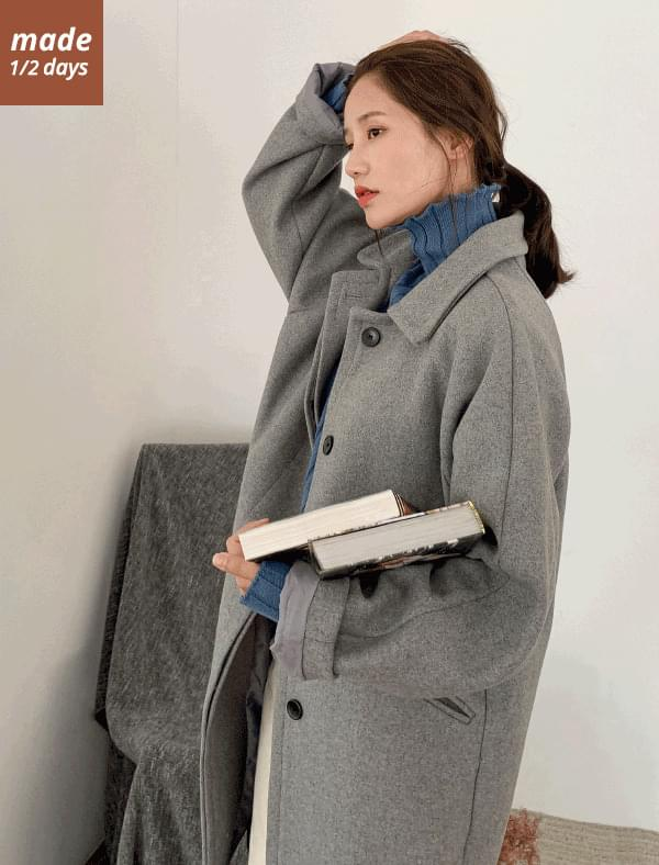 1/2 day coat # 320 nagrand single button wool coat