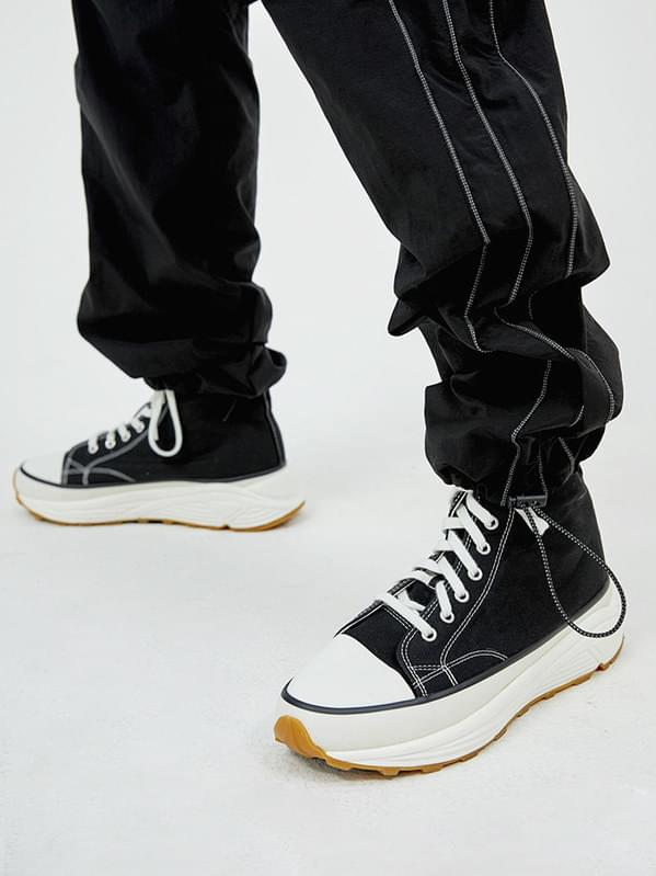 platform canvas shoes - men
