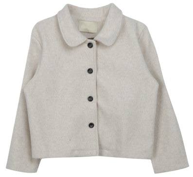 Simple woolen short jacket