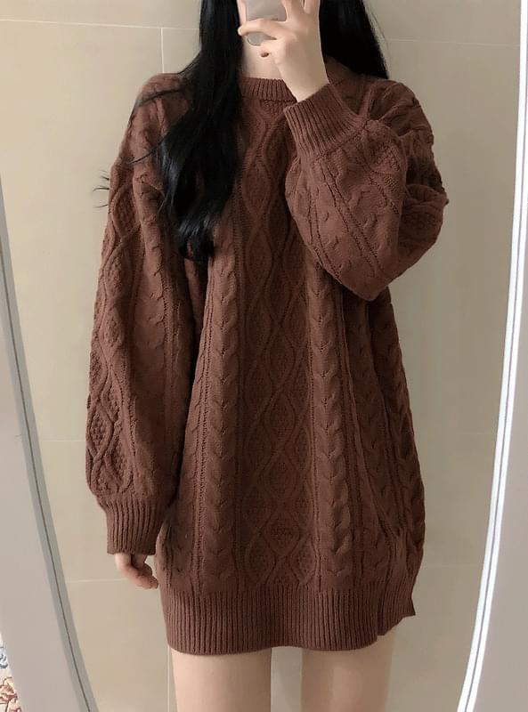 Sally Pretzel Knit Dress