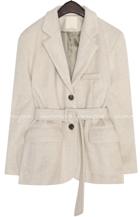CORDY WOOL BELT SINGLE JACKET