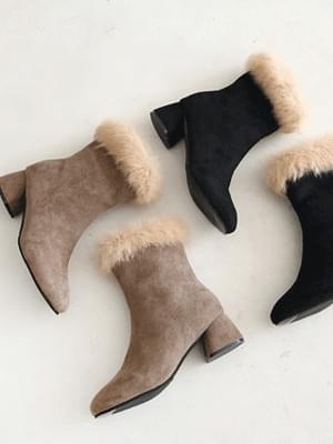 Revenant Real Fur Ankle Boots 5cm