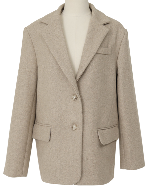 Anted wool button jacket_A (size : free)