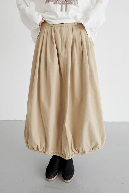 pumpkin cotton skirts (beige)