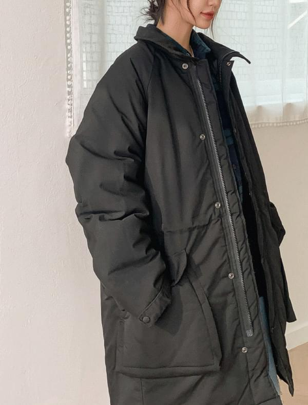 Loose fit quilted padded night jumper-jp zip-up