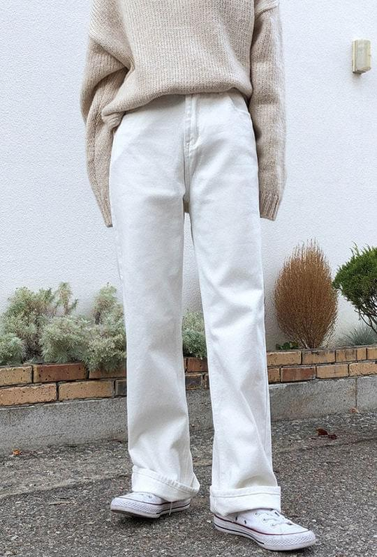 Long Wide Fit Cotton Pants