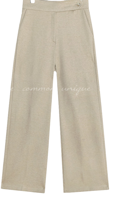 NAPPING BUTTON POINT WIDE SLACKS パンツ