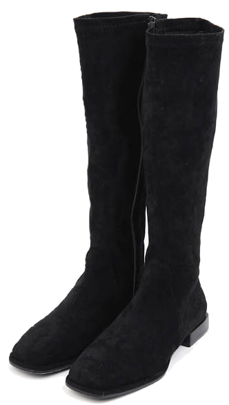 soft suede semi-long boots