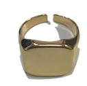 simple square detail ring