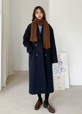 Wool Overfit Double Coat