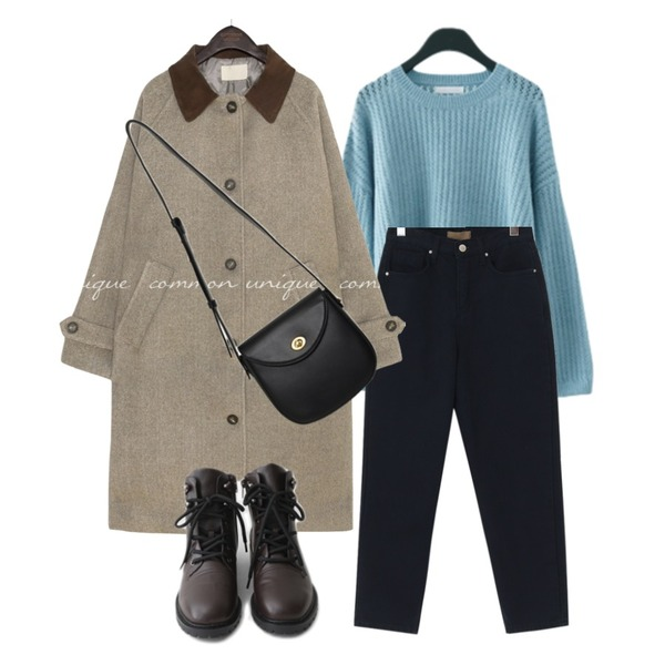 From Beginning Clack round cross bag_C (size : one),common unique FOREN CORDUROY COLLAR LONG COAT,AFTERMONDAY semi-trekking mood walker (2colors)등을 매치한 코디