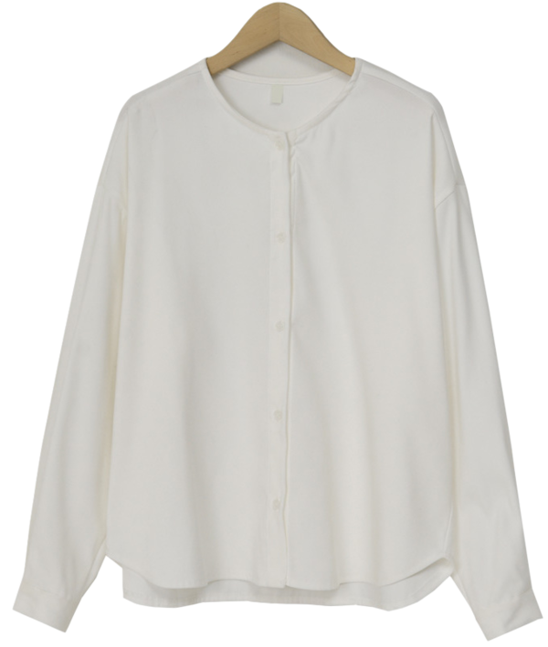 Simple round neck blouse_A (size : free)