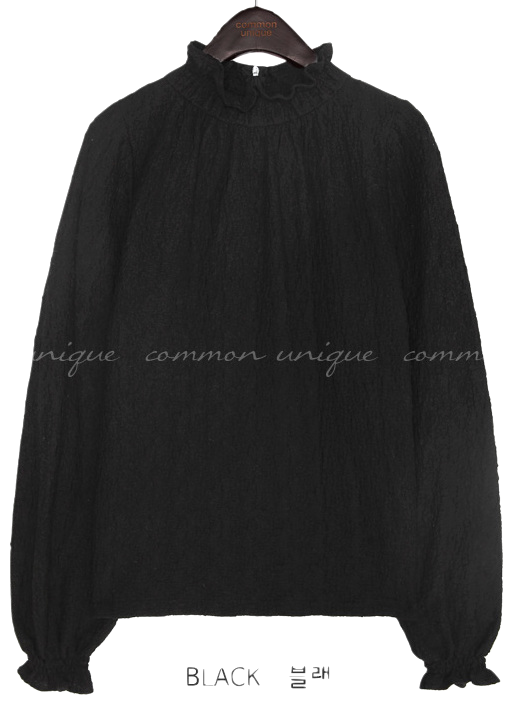 LURE FRILL NECK BLOUSE