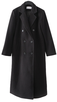 simple double button coat コート