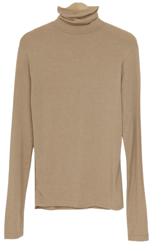 Lounge Slim Wool Turtleneck T-shirt