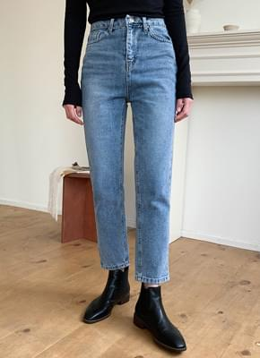 Salt washed denim pants