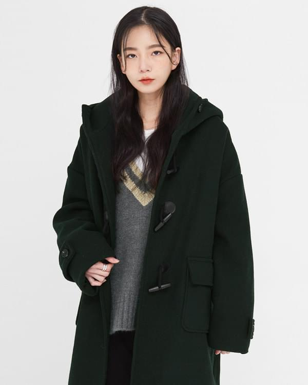 deeper wool napping duffle coat