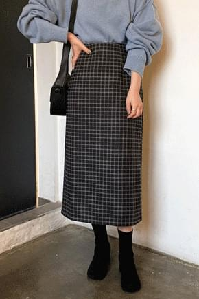 Epic Check Long Skirt skirt